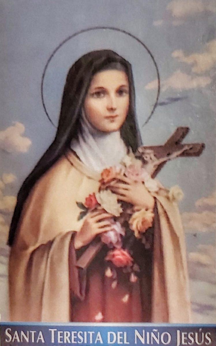 Santa Teresita del Niño Jesús estampa