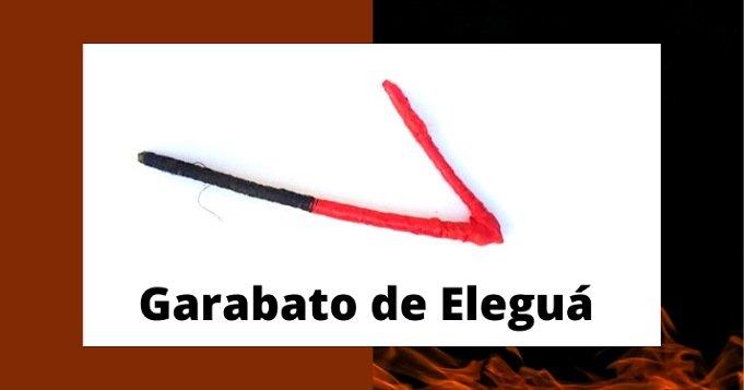 Garabato de Eleguá negro y rojo