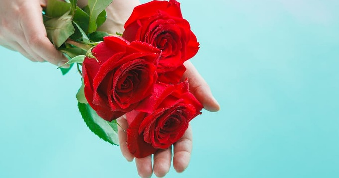 Ofrenda a Elegguá con rosas