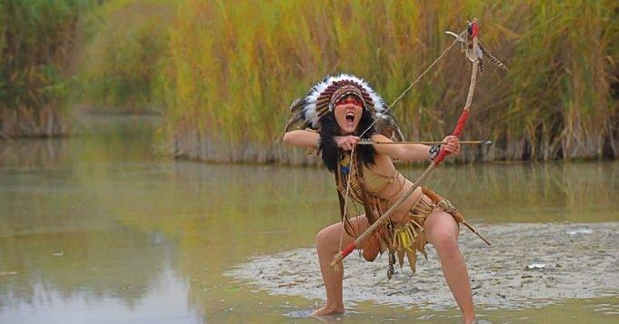 Arco y flecha de indios