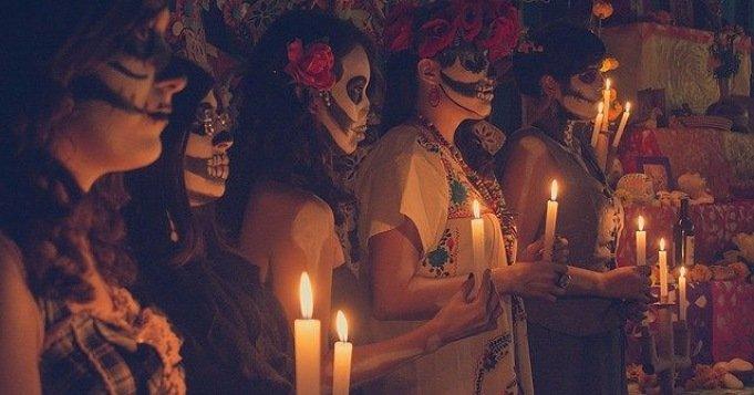 Culto a la Santa Muerte en el día de los muertos