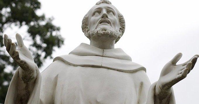 Escultura de San francisco de Asís