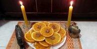 Ofrenda a Oshún con naranja