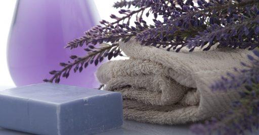 Baño con lavanda