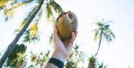 Limpia con agua de coco