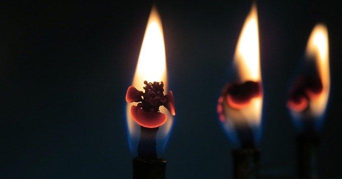 Lámpara para Elegguá con 3 mechas