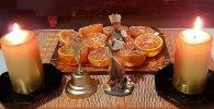 Ofrenda Oshún con naranja